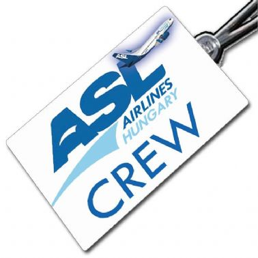 ASL AIRLINES HUNGARY 737 Crew Tag